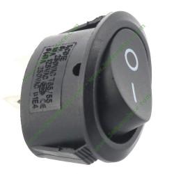 interrupteur noir ovale unipolaire