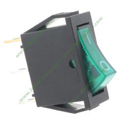 interrupteur lumineux vert unipolaire à bascule
