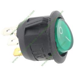 interrupteur rond unipolaire lumineux vert