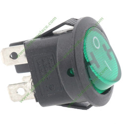 interrupteur rond vert lumineux bipolaires