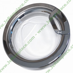 Hublot complet chromé C00287794 pour lave linge