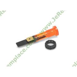 Voyant rond orange diamètre 10 mm avec bague