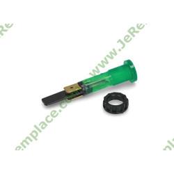 Voyant à cosses rond vert diamètre 10 mm avec bague