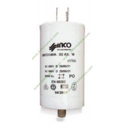 Condensateur permanent à cosses 60 Micro Farads pour moteur