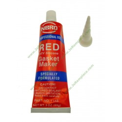 Colle en silicone rouge haute température 350 degrés
