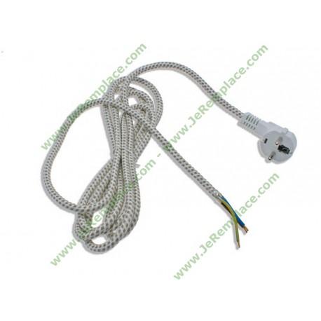 Cordon électrique pour fer à repasser longueur 3 Mètres