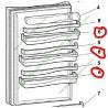 C00082955 Balconnet étagère de porte pour réfrigérateur