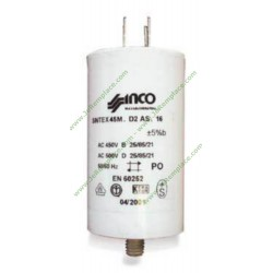 Condensateur permanent 3 Micro-Farads Max 450 Volts pour moteur