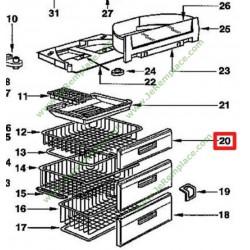 45x2138 Façade de tiroir pour congélateur brandt vedette 45x8211