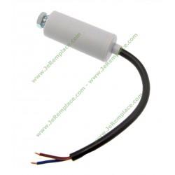 Condensateur 16 Micro Farads permanent étanche à fils pour moteur
