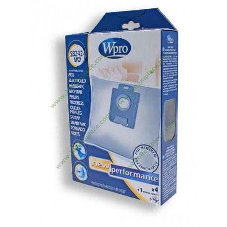 SB242-MW Sacs à poussière en microfibres WPRO pour aspirateur