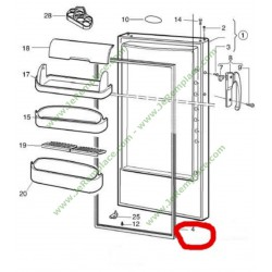 joint de porte refrigerateur 959002601 r frigerateur groupe electrolux aeg. Black Bedroom Furniture Sets. Home Design Ideas