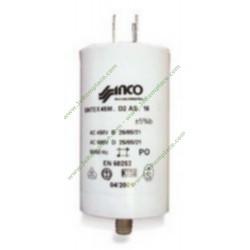 Condensateur à cosses permanent 80 Micro-Farads pour moteur