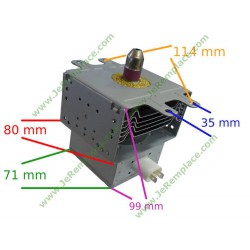 Magnétron de four micro ondes 2M236-M1 00268142
