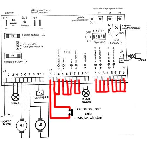 Montage bouton poussoir ou commande manuel sur carte électronique ctr50