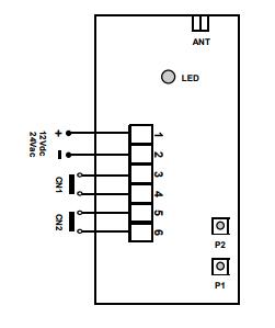 Récepteur télécommande portail ou lumières