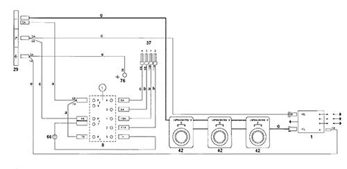 Autre shéma électrique du branchement du commutateur de cuisson 7 positions.