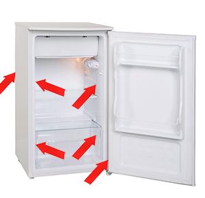 Plaque signalétique du réfrigérateur