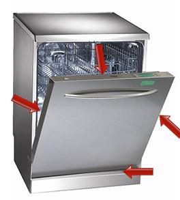 Plaque signalétique du lave vaisselle
