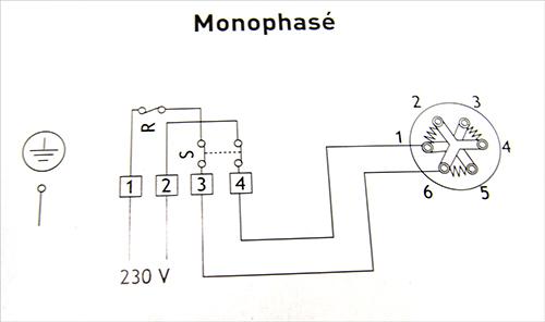 Chauffe eau - schéma de branchement de résistance et thermostat monophasé 220/230 Volts